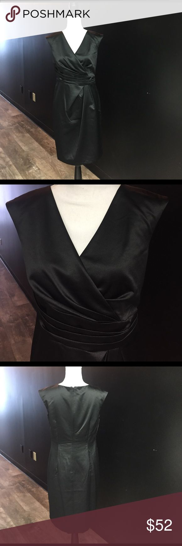 Adrianna papell black satin cocktail dress new Adrianna papell black satin cocktail dress new  beautiful dresss brand new without tags . Non smoking pet free home Adrianna Papell Dresses