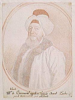 Claude Alexandre de Bonneval jako Humbaracı Ahmet Paşa, francuski dyplomata w służbie tureckiej w 1 poł. XVIII wieku, reformator armii tureckiej; poślubił córkę faworyta Birona: Judytę Karolinę.