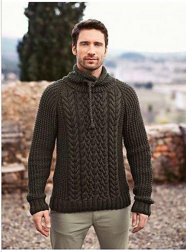 MADE TO ORDER men's turtleneck Sweater V-neck men crewneck hand knitted sweater…