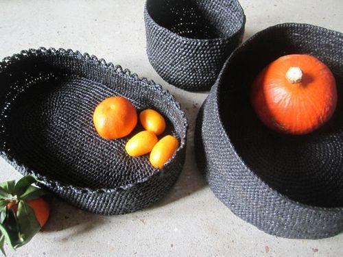 crochett avec du sac poubelle r cup sac de plastique et papier journalmagazine. Black Bedroom Furniture Sets. Home Design Ideas