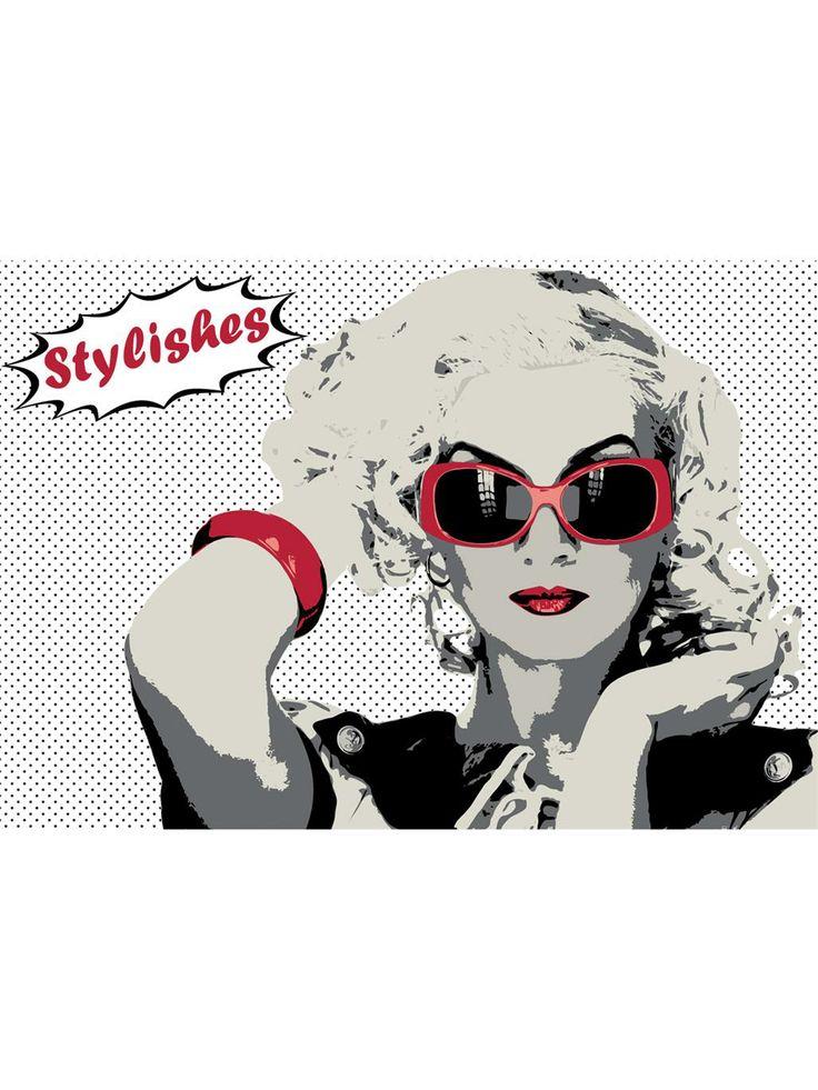 http://www.benuta.de/catalogsearch/result/?q=ACTIO  Pop-Art trifft Teppich. Dieser schicke Teppich wurde zwar nicht von Warhol oder Lichtenstein entworfen, bringt Ihnen aber trotzdem das Lebensgefühl der 60er-Jahre in Ihr Zuhause. ACTIO ist aus 100% hochwertigem Polyester handgetuftet.
