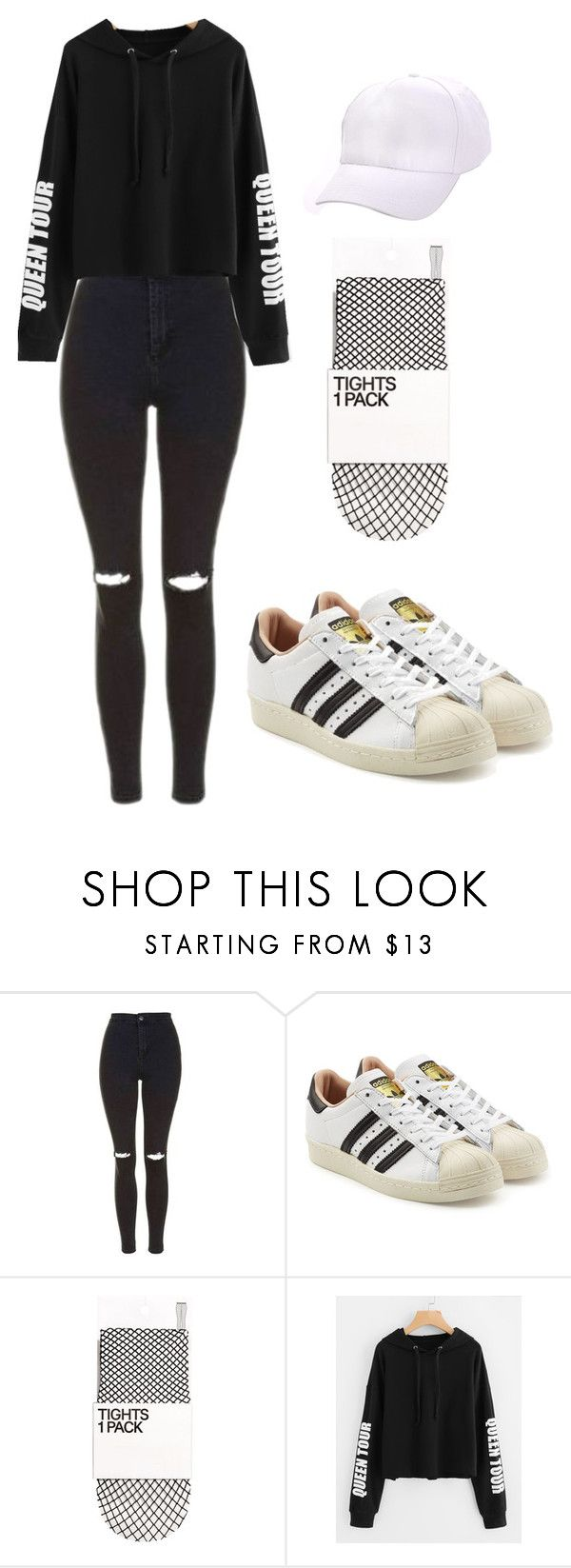 """Outfit"" by andreeadeeix12 ❤ liked on Polyvore featuring Topshop and adidas Originals"