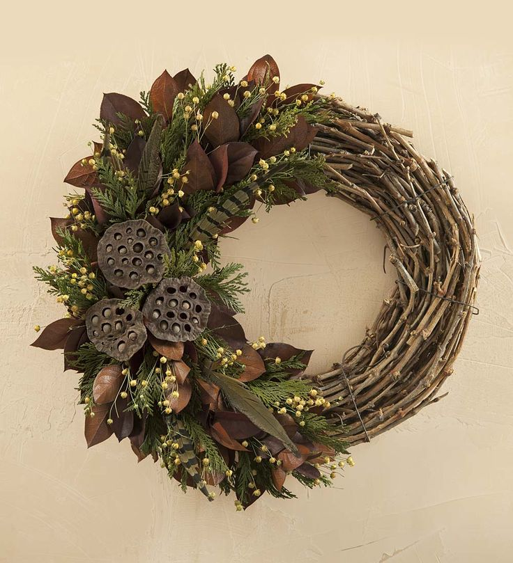 "Pheasant Feather Wreath, 23"" dia. 