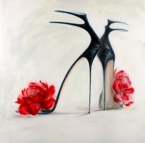 Shoe Paintings! Glamorous Art by Kelly O'Neal   Culture Vixen