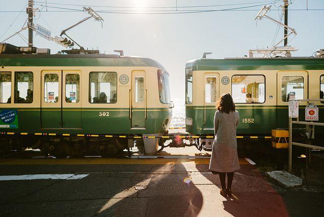 鎌倉 江ノ電 電車 kamakura enoden japan