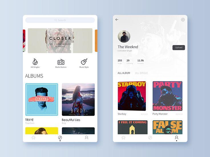 Billboard - Music App 2 by Tao. #Design Popular #Dribbble #shots
