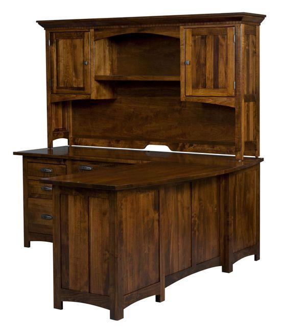 1000 images about office furniture on pinterest rustic desk l shaped desk and computer desks - Solid wood corner desk with hutch ...