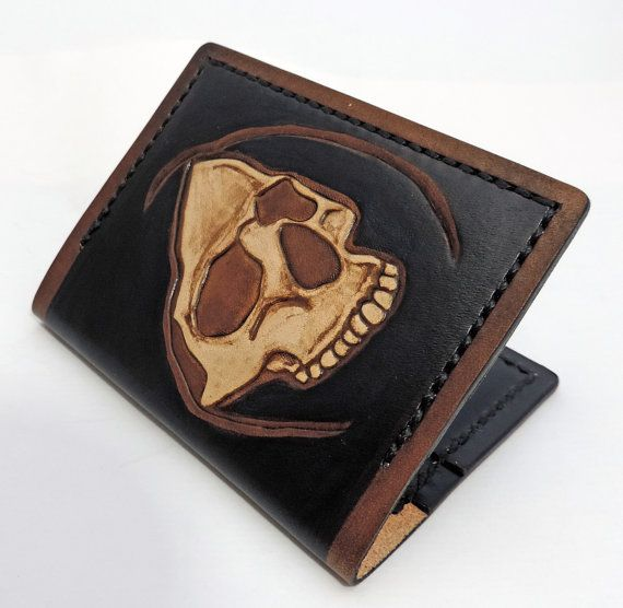 Card wallet - hooded skull