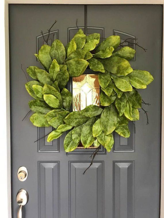 Fixer Upper inspired Wreath Farmhouse XL 24 inch Southern Magnolia Wreath Outdoor Wreath READY To Ship! Realistic Faux Magnolia Wreath