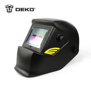 DEKO Red Solar Auto Darkening Electric Welding Maskhelmetwelding Lens for Welding Machine OR Plasma Cutter (32728032373)  SEE MORE  #SuperDeals