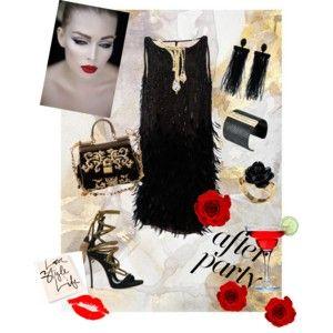 Kiss of luxury - Polibek luxusu - styling v černo-zlaté