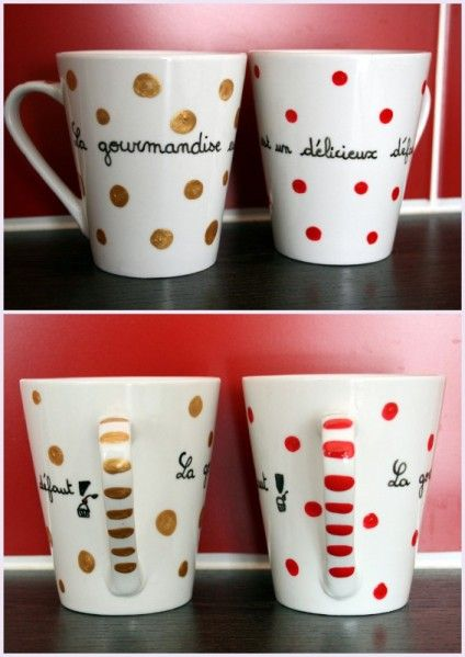 10 best id es propos de tasses peintes sur pinterest tasses caf peintes mugs sharpie et. Black Bedroom Furniture Sets. Home Design Ideas