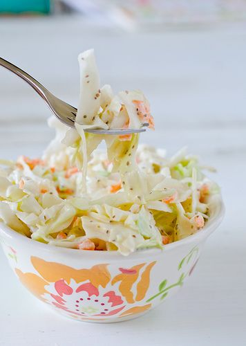 """Memphis Coleslaw -  cut your calories - use 1/2 cup """"greek"""" yogurt with 1/2 cup mayo - can't tell the difference ......"""