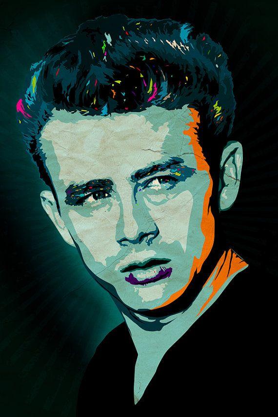 James Dean Art Print A3 Portrait by CiaranMonaghan on Etsy