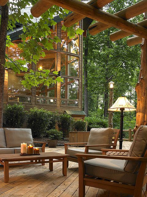 This is so nice; peaceful.  With all the trees you feel like you're in a tree house!