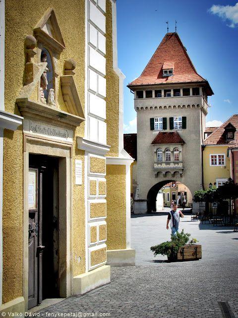 Heroes' Gate / Heroes' Tower (Hősök kapuja) in Kőszeg, Hungary