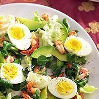 Salade met ei en rivierkreeftjes  #lowcarb #salad #eggs #shrimp