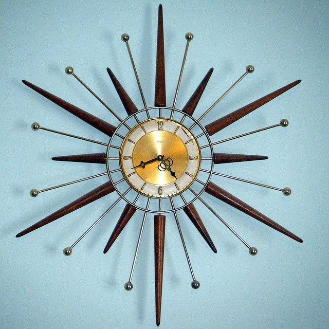 Sunburst Clock | Mid Century
