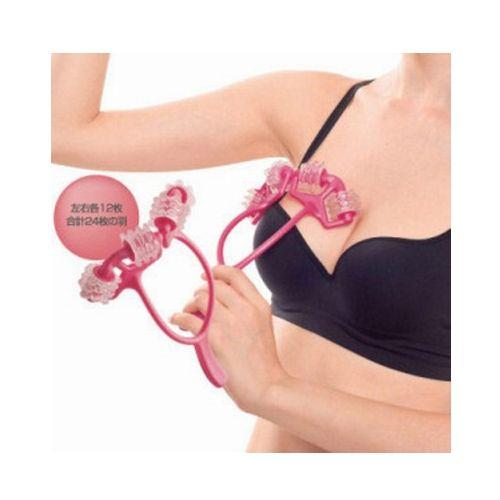 Free Shipping 24 Cells Chest SPA Massager Bust Breast Roller Massage Enhancer