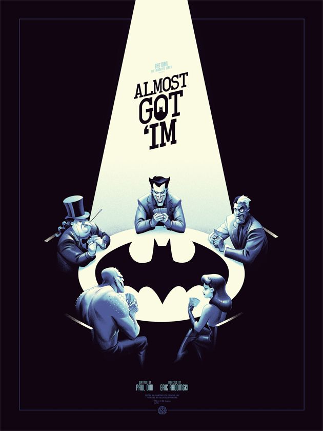 Batman: The Animated Series print by Mondo