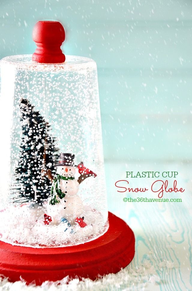 Christmas Gift Idea - Super cute DIY Snow Globe Tutorial at the36thavenue.com