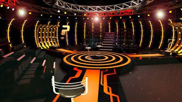 I LOVE THE LIGHTS!!! Tv Set Designs by Cenk Tuna, via Behance