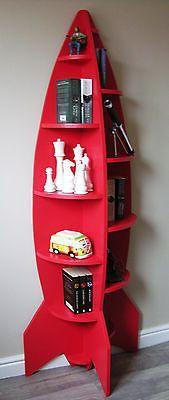Unusual Modern 6ft Rocket Shaped Childrens Bookcase / Shelving Unit / Novelty
