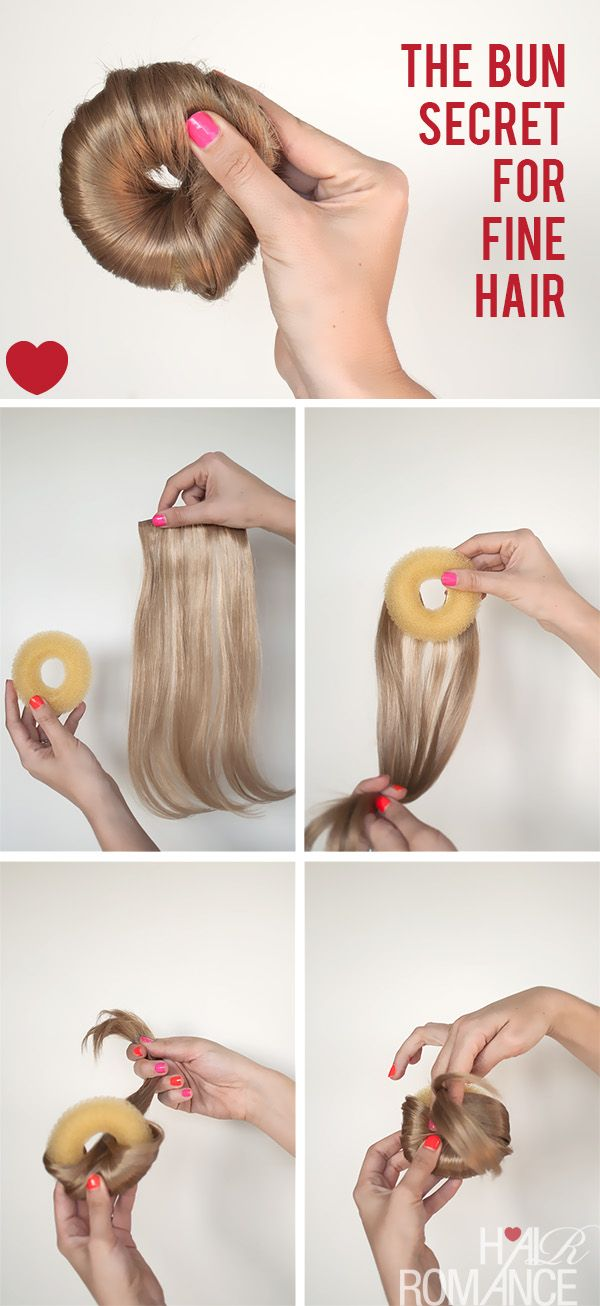 How to make the perfect hair donut for fine hair.. or short hair!! why did I never think of this?!