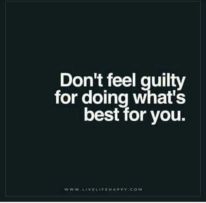 I never do. I no longer allow myself to feel guilty as I know what I do is right for me and my family. My choices not yours!