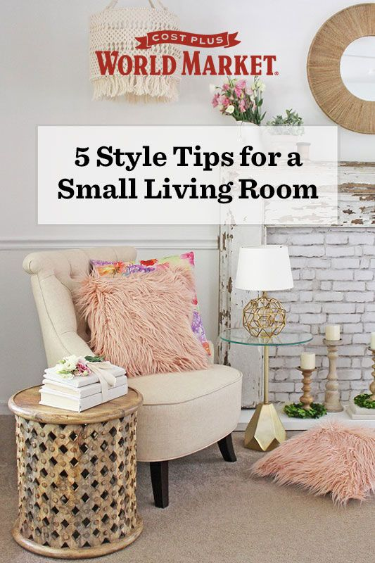 How do you transform a small living room into a huge style star? Our design blogger Roxanne Kwiecinski of The Honeycomb Home shares 5 style tips for a major room makeover using our furniture and decor. #WeKnowSmall