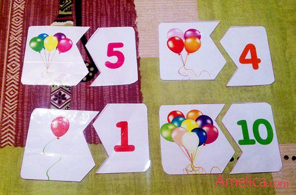 Развивающие пазлы с цифрами для изучения счета от 1 до 10