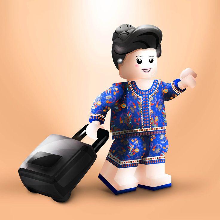 Singapore airlines sq girl in lego singaporean icons