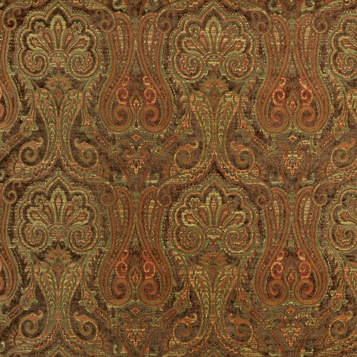 Waverly clubroom paisley java fabric to coordinate with Coordinating fabrics for living room