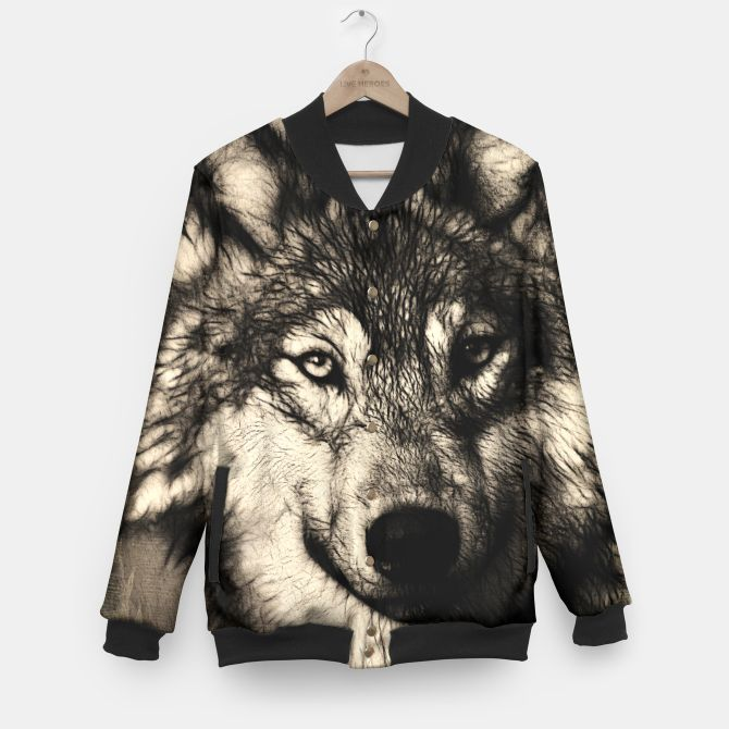 Gray Wolf Baseball Jacket