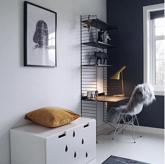 les 25 meilleures id es de la cat gorie bureau petit espace sur pinterest petit coin bureau. Black Bedroom Furniture Sets. Home Design Ideas