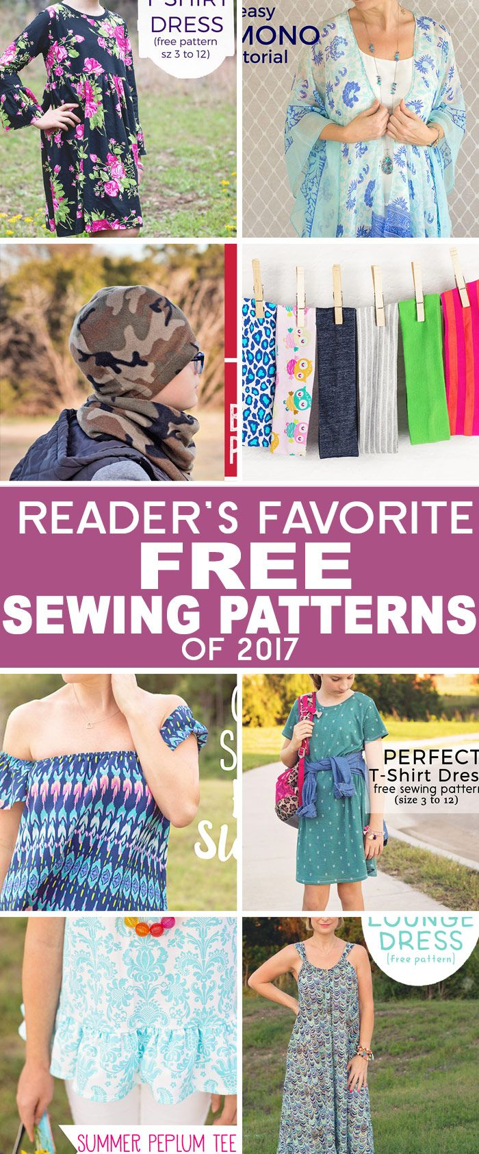 Best free sewing patterns and craft related posts of 2017!