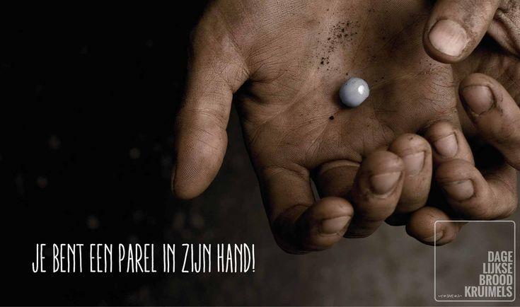 Je bent een parel in Zijn hand  #Hand, #Parel  http://www.dagelijksebroodkruimels.nl/een-parel-in-zijn-hand/