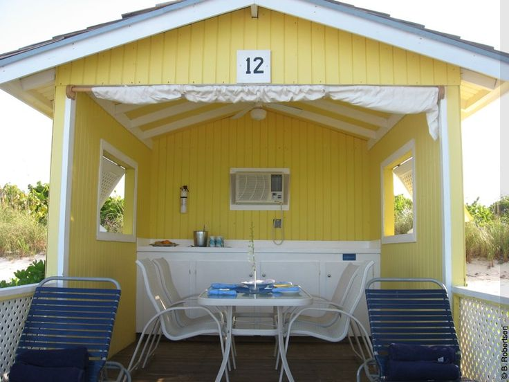 Holland's private cabanas on Half Moon Cay ... butlers ...