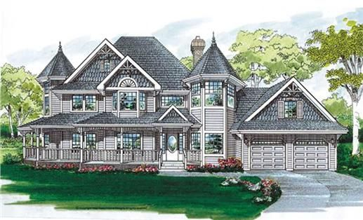 Rich With Victorian Details Scalloped Shingles A