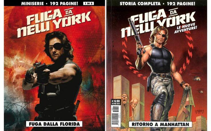Fuga da New York fumetto, copertine dei numeri pubblicati da Cosmo editore con Snake Plissken Fuga dalla Florida