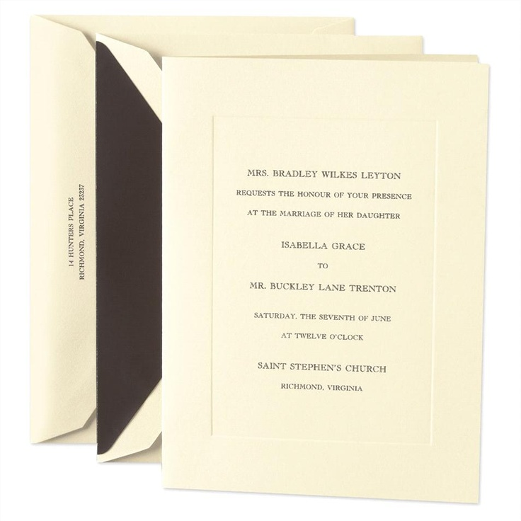 sample wedding invitation letter for uk visa%0A Embassy Panelled Folded Wedding Invitation