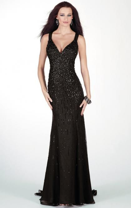 Floor Length Black Evening Formal Dress Australia LFNAC0055 on sale-GraziaDress AU