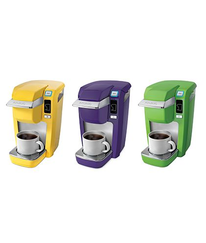 Love the yellow Keurig. Plenty of colors to pick from. Easy to use and would be great for the dorm.