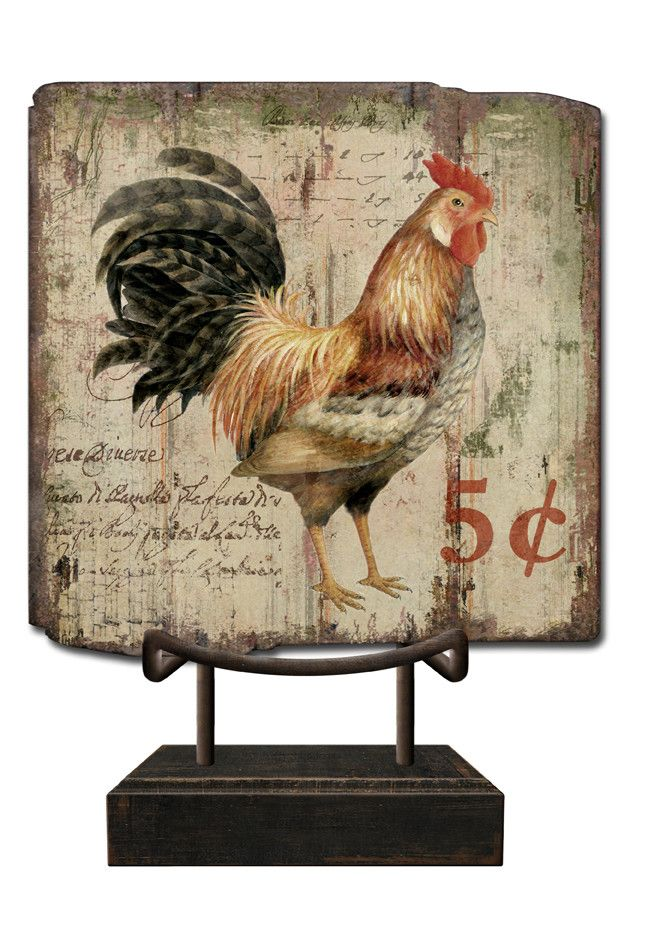 Features:  -Country collection.  -Multi-colored.  -Made in the USA.  Country of Manufacture: -United States.  Product Type: -Sign.  Style: -Country/Cottage/French.  Theme: -Animal.  Subject: -Home dec