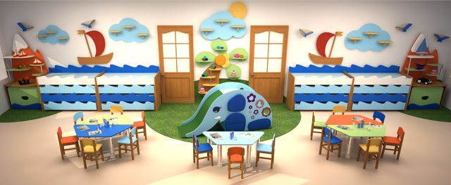 Furniture for kindergartens and daycare centers