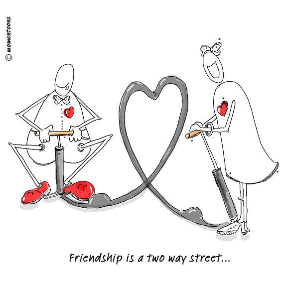 Friendship Caricature, Funny Cartoon, Funny Illustration, Hand Drawn, Funny Quotes, Comic Poster, Humorous Quote, Digital Print, Funny Print