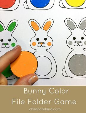 Here is a cute file folder game that is great for color recognition and review.