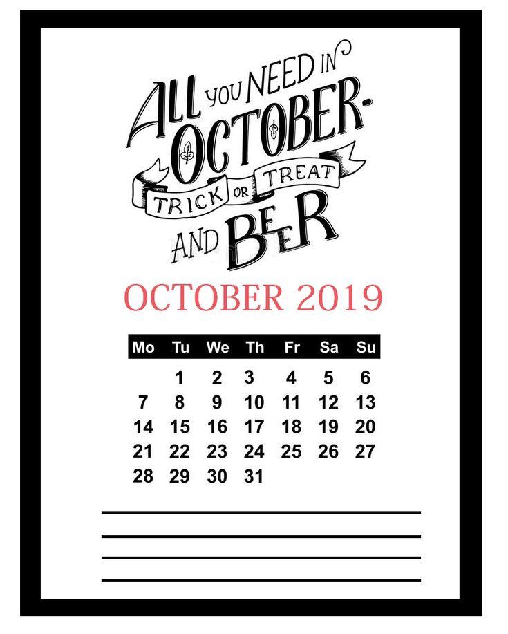 Unique Cute October Calendar 2020 Floral Wallpaper For