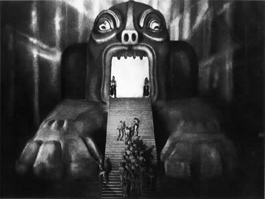Metropolis is still the most relevant movie about modern society - how it chews up and spits out workers, builds people up only to tear them down, how a few crazy people can control a scared populace - it's hard to pick one picture since it's one long visual feast for the eyes.