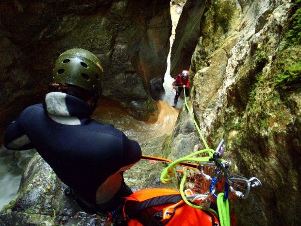 Extreme Sports in Macedonia - Canyoning at Enipeas Canyon, Mt Olympus, Macedonia Greece
